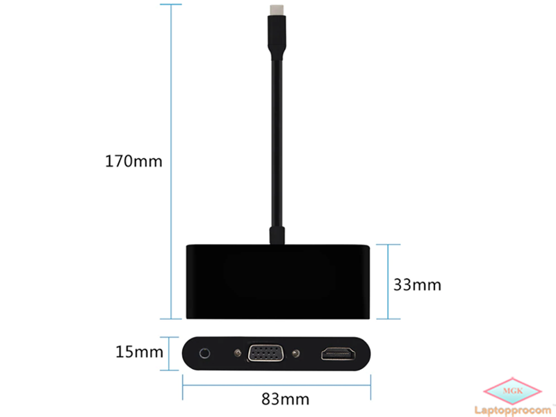 type c to VGA HDMi USB